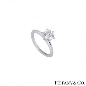 Tiffany & Co. Platinum Diamond Setting Ring 1.08ct I/VS1 XXX